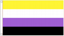 Non-Binary (NB) Genderqueer (GQ) Non-Binary Pride 5'x3' (150cm x 90cm) Flag